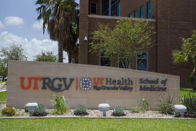 The University of Texas Rio Grande Valley School of Medicine in Edinburg, Texas, last year. The Rio Grande Valley, a four-county region that stretches across Texas's southernmost tip, remains one of America's most afflicted areas, with the highest hospit