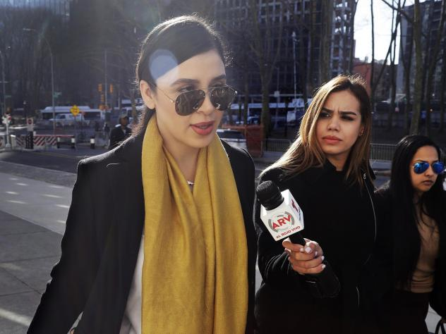 "Emma Coronel Aispuro (far left), wife of Joaquín ""El Chapo"" Guzmán, is facing several charges for her alleged involvement in the Sinaloa Cartel's drug trafficking as her husband sits in a U.S. prison."