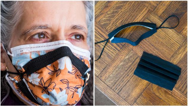 According to the CDC using a brace or mask fitter over a disposable mask or a cloth mask is a good way to make your mask more secure and prevent leaks.