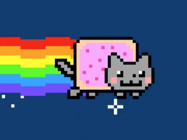 A work called Nyan Cat by Chris Torres sold for $590,000 recently. It's part of growing interest in digital assets, known as non-fungible tokens, or NFTs, that are generating millions of dollars in sales every day.