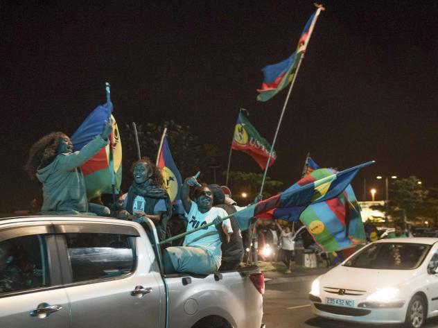 Pro-independence supporters celebrate the results of an independence referendum vote in Nouméa, New Caledonia, in October. In a vote that marked a milestone in a three-decade decolonization effort, 46.7% supported independence. Now the Pacific island te
