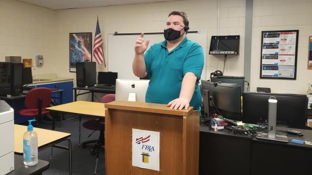 """Jason Felt teaches a cybersecurity class at Countryside High School in Clearwater, Fla. The group Cyber Florida has helped organize the program in many parts of the state, and is planning to expand its """"digital literacy"""" campaign to include topics like d"""