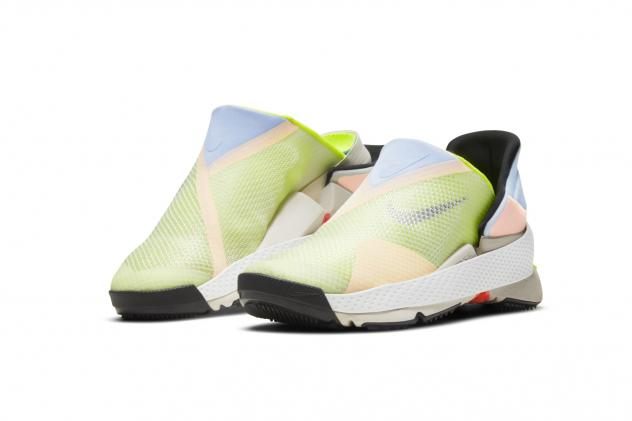 The GO FlyEase, Nike's first hands-free shoe, hinges open and closed, so the wearer just needs to slip their foot in and push down in order to put it on.