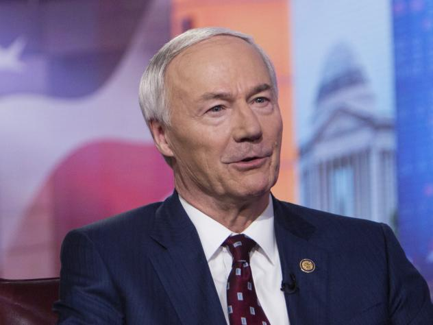 "Arkansas Gov. Asa Hutchinson, pictured in 2019, on Monday said the bill banning gender-affirming medical care for transgender youth would set ""new standards of legislative interference with physicians and parents as they deal with some of the most comple"