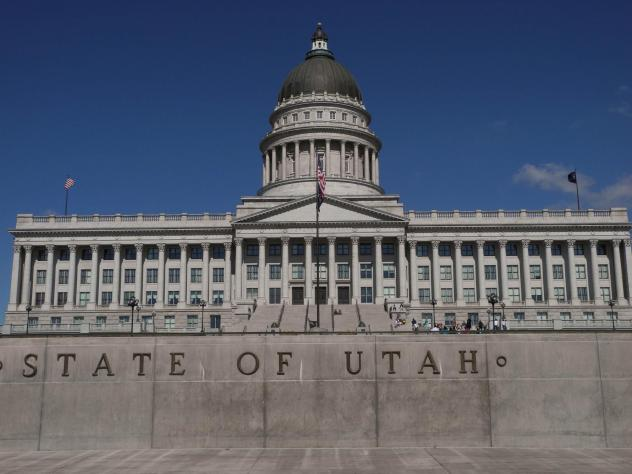 The Utah State Capitol in Salt Lake City. Under a new state law, a biological father will be responsible for half of a woman's out-of-pocket pregnancy costs.