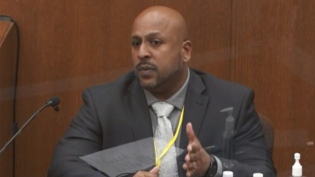 Senior Special Agent James Reyerson of the Minnesota Bureau of Criminal Apprehension testifies Wednesday at the trial of former police officer Derek Chauvin in the death of George Floyd.
