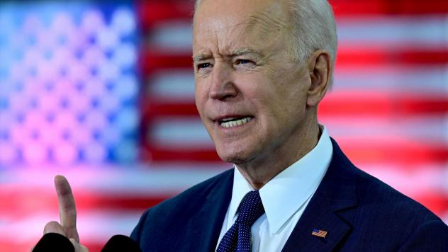 President Biden unveils a $2 trillion infrastructure plan in Pittsburgh on March 31. In his speech, Biden said the plan would help the U.S. compete with China.