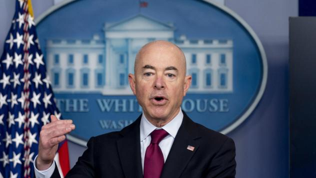 Homeland Security Secretary Alejandro Mayorkas speaks during a March 1 news conference at the White House. The Biden administration says four families that were separated at the Mexico border during the Trump administration would be reunited in the U.S.