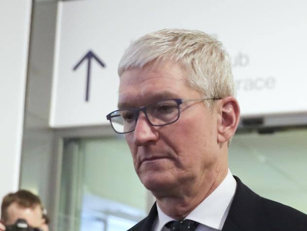 Apple CEO Tim Cook is photographed at the 2020 World Economic Forum in Davos, Switzerland. Cook will take the witness stand Friday, May 21, 2021, to defend the company's iPhone app store against charges that it has grown into an illegal monopoly, one far