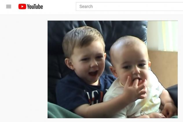 Charlie, then 1 year old, bites Harry, 3, in the 2007 YouTube video. The rest is history.