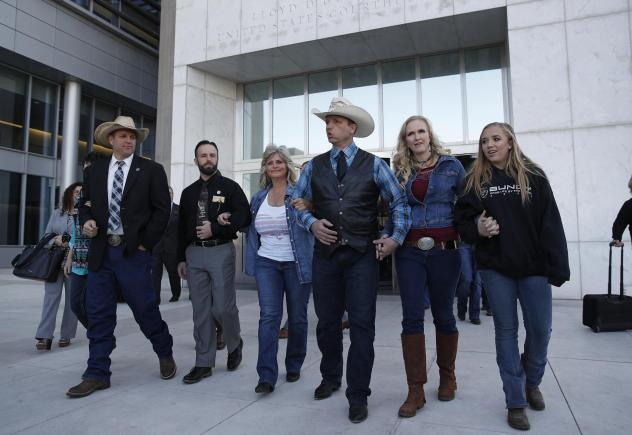 Rancher Cliven Bundy walks out a free man
