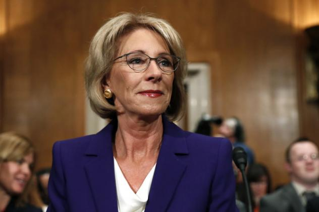 Like Senate, Delmarva leaders split on Betsy DeVos