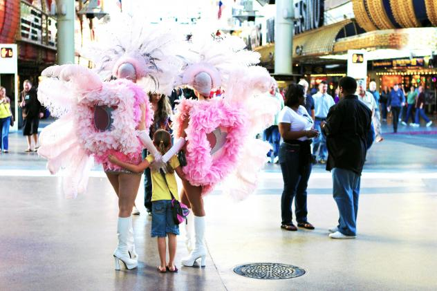 Fremont Street performers