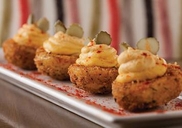 Crisy deviled eggs
