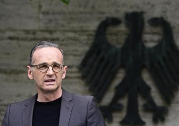 German Foreign Minister Heiko Maas addresses the media Friday in Berlin. Germany has reached an agreement with Namibia that will see it officially recognize as genocide the colonial-era killings of tens of thousands of people and commit to spending $1.3