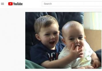 Charlie, then 1 year old, bites Harry, 3, in the original 2007 YouTube video — which isn't going anywhere, it turns out.