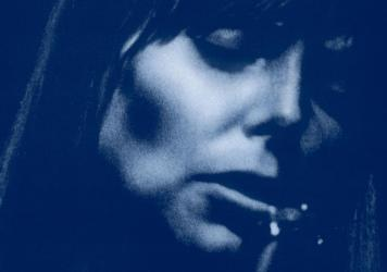 Joni Mitchell on the cover of <em>Blue</em>, an album turning 50 in 2021.