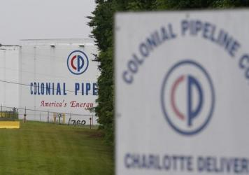 The entrance of Colonial Pipeline Co. in Charlotte, N.C. The company was the victim of a ransomware attack last month.