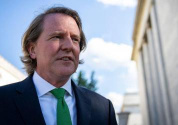 Former White House counsel Don McGahn leaves Capitol Hill after closed-door meeting with the House Judiciary Committee on June 4. McGahn, a witness in special counsel Robert Muellers investigation, was first subpoenaed by the committee two years ago but