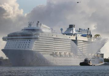 Royal Caribbean had been set to launch the Odyssey of the Seas on its first cruise with passengers in early July. But positive coronavirus tests among the crew have forced the voyage to be delayed for four weeks.