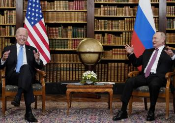 """At their summit in Geneva on Wednesday, President Biden told Russian leader Vladimir Putin that the U.S. would strike back if it keeps getting hit with cyber attacks. """"Responsible countries need to take action against criminals who conduct ransomware act"""