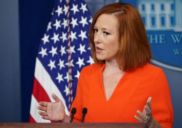 """White House press secretary Jen Psaki tells reporters Monday she doesn't expect to see the """"magical 10 votes"""" from Republicans needed to advance Democrats' sweeping election overhaul legislation."""