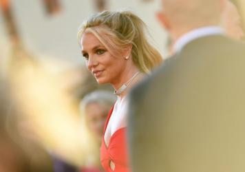Britney Spears arrives at a Hollywood movie premiere in 2019.