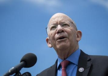 """Rep. Peter DeFazio, D-Ore., speaks during a news conference in May. He believes FEMA has """"swung way too far in the other direction"""" after people who were not eligible received assistance following Hurricane Katrina."""