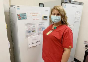 Although she coordinates COVID vaccinations at the federally-subsidized clinic in Linden, Tenn., nurse Kirstie Allen has not yet gotten the vaccine herself. She wants to wait a while and see more research first. In Tennessee, only 42% of adults have rece