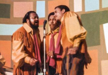 The 5th Dimension perform in Harlem's 'Summer of Soul' in Ahmir 'Questlove' Thompson's acclaimed new concert film. (Courtesy of Searchlight Pictures)