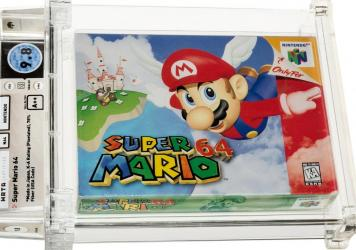 An anonymous bidder won a pristine copy of a 1996 Nintendo Mario 64 for $1.56 million, according to Heritage Auctions.