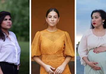 In one year, a Denver TV station ousted three Latina journalists: (from left) Kristen Aguirre left in March 2020, Lori Lizarraga left in March 2021 and Sonia Gutierrez left last November.