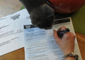A resident of Reading, Pa., fills out a U.S. census form in 2010. The White House's Office of Management and Budget says it's reviewing proposals that the Census Bureau's researchers say would allow the census to gather more accurate race and ethnicity d