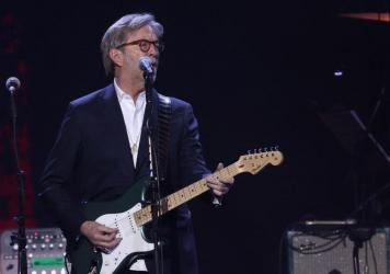 Eric Clapton performs in London in March 2020, shortly before the coronavirus lockdown.
