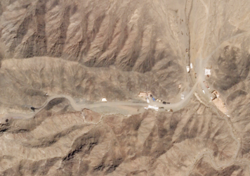 An image from July 26 shows a new tunnel at the Lop Nur nuclear test site.