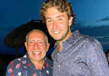 Max García and his grandfather, Mario, in early July.