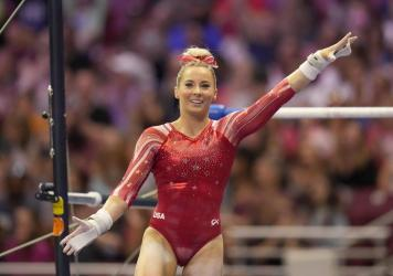 MyKayla Skinner, 24, will compete in place of Simone Biles, who elected not to compete in the vault and uneven bars finals this Sunday.