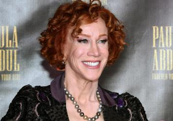 """Comedian Kathy Griffin attends the official opening of Paula Abdul's Flamingo Las Vegas residency """"Paula Abdul: Forever Your Girl"""" at The Cromwell Las Vegas on October 24, 2019."""