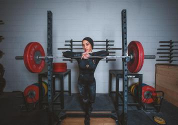 Subreen Dari is a 33-year-old Palestinian-American weightlifter who aspires to compete in future Olympic Games.