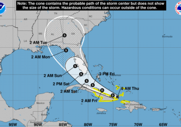 Tropical Depression Fred, currently off the coast of Cuba, is forecast to make landfall as a tropical storm in the vicinity of the Florida Keys by Saturday.