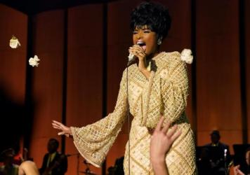 Aretha Franklin was heavily involved in the development of <em>Respect</em> up until her death in 2018, and she reportedly handpicked Jennifer Hudson to star in it.