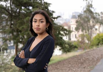 Tashrima Hossain, who used to work in Wall Street but quit to join Facebook, is part of a growing number of young people who are no longer attracted by the allure of Wall Street despite the rising salaries. She poses for a portrait at Alamo Square in San