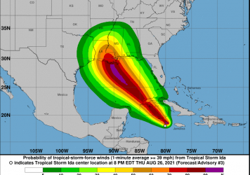 Tropical Storm Ida has formed in the Caribbean Sea and is forecast to grow into a Category 2 hurricane before it hits the coast of Louisiana.