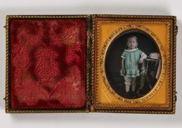 <em>Untitled (young boy)</em>, undated, sixth-plate daguerreotype. Smithsonian American Art Museum, the L. J. West Collection of Early African American Photography, Museum purchase made possible through the Franz H. and Luisita L. Denghausen Endowment.