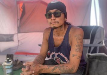 Gary McKinney of the Duck Valley Reservation says he plans to stay camping at a proposed site of a lithium mine long as it takes to prevent it from being developed.
