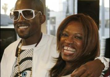 Kanye West and his mother, Donda.