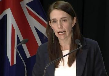 In this image made from video, New Zealand Prime Minister Jacinda Ardern speaks about a stabbing attack during a press conference, Friday, Sept. 3, 2021, in Wellington, New Zealand. New Zealand authorities say they shot and killed a violent extremist aft