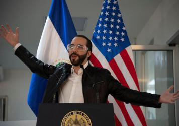 El Salvador's President Nayib Bukele (shown here at a news conference in May 2020) spearheaded efforts to make Bitcoin legal tender in his country.