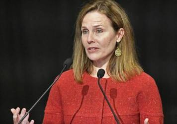 """Supreme Court Justice Amy Coney Barrett told an audience Sunday that """"judicial philosophies are not the same as political parties."""""""