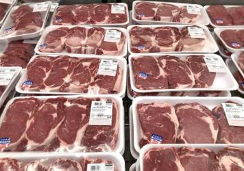 Packages of beef cuts are displayed at a Costco store on May 24 in Novato, Calif. The prices of meats have surged, and the White House is partly blaming the handful of meatpackers that control the industry.